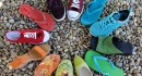 circle of different shoes